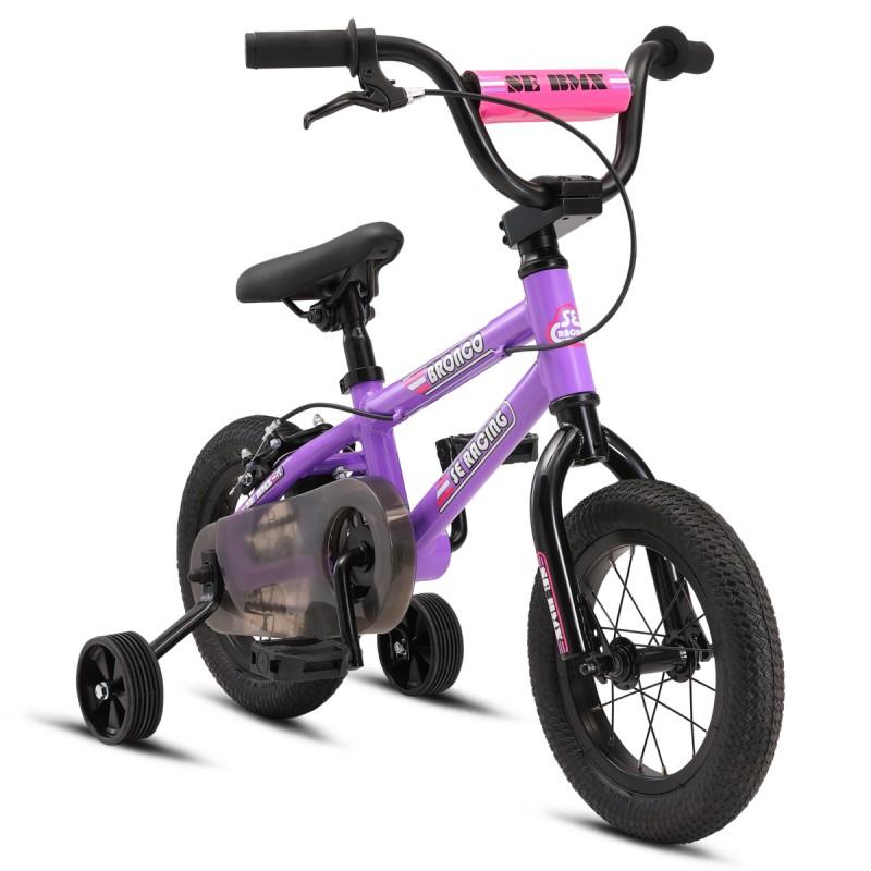 """2021 SE Bikes Bronco 12"""" Kids Series BMX Bike - Purple"""