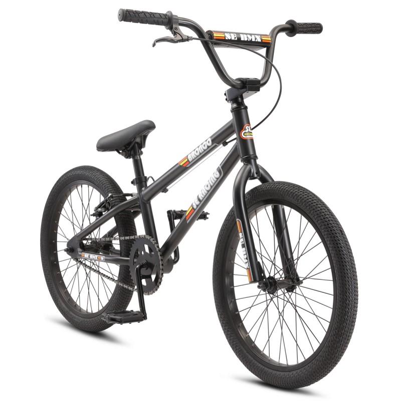 """2021 SE Bikes Bronco 20"""" Kids Series BMX Bike - Matte Black"""