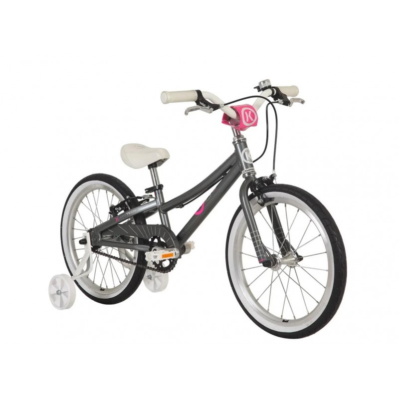 Byk Bikes E-350 Kids Single Speed Bike - Charcoal/Neon Pink