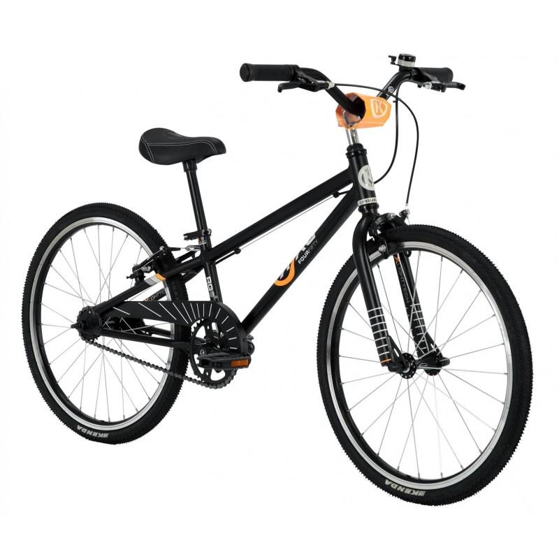 Byk Bikes E-450 Kids Single Speed Bike - Black/Neon Orange
