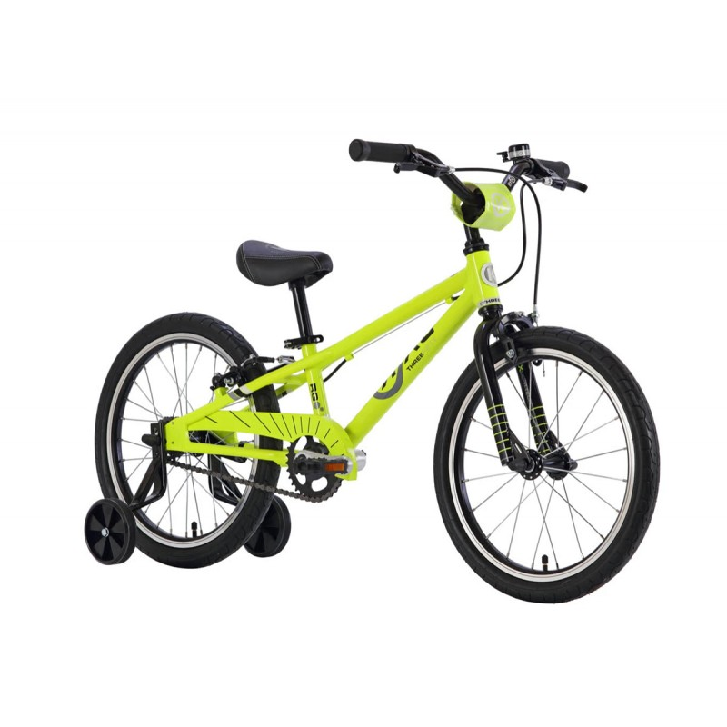 Byk Bikes E-350 Kids Single Speed Bike - Neon Yellow/Black