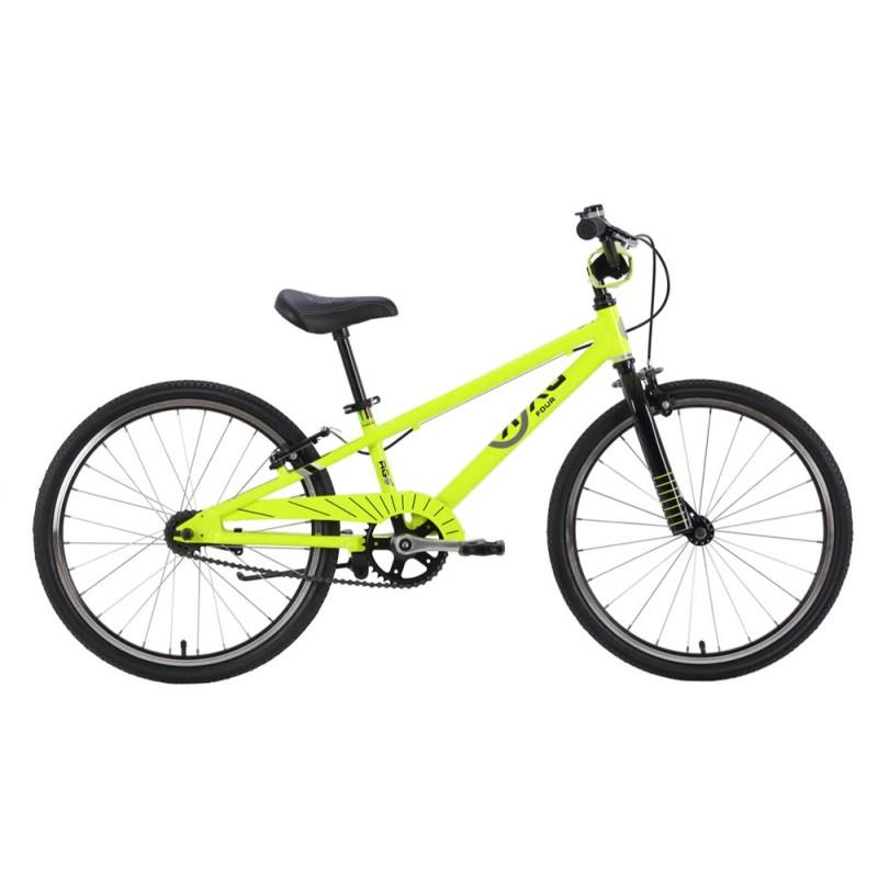 Byk Bikes E-450 Kids Single Speed Bike - Neon Yellow/Black
