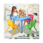 Keezi 5 Piece Kids Table and Chair Set - Blue