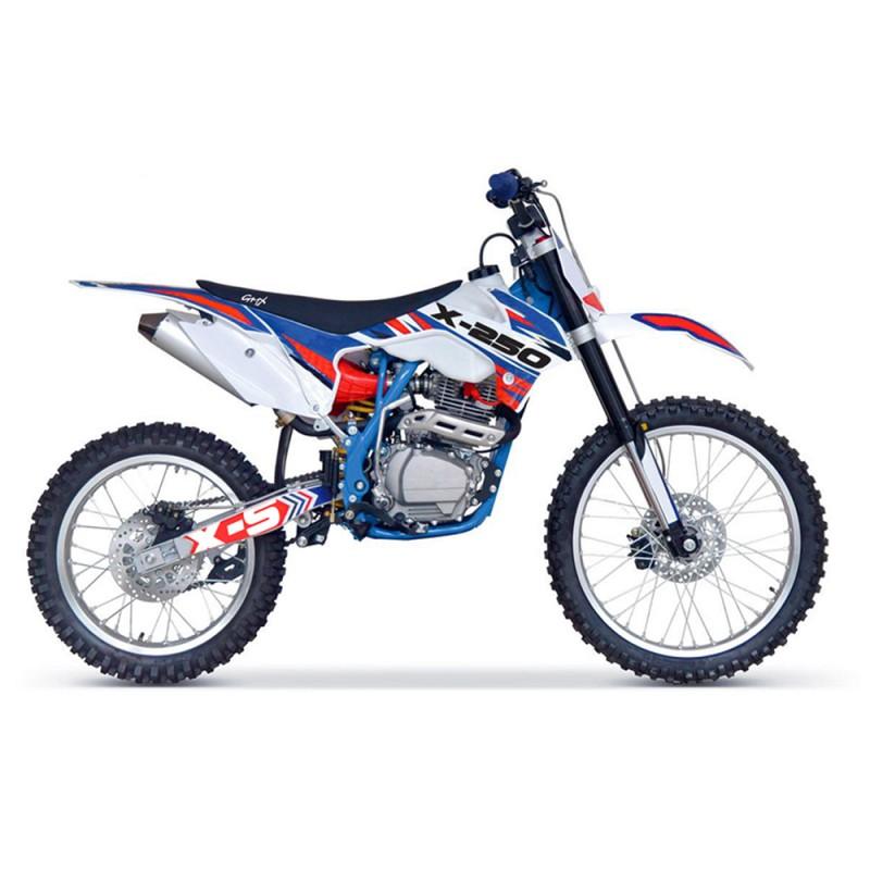 GMX X Series X-250 Dirt Bike - Blue/Red