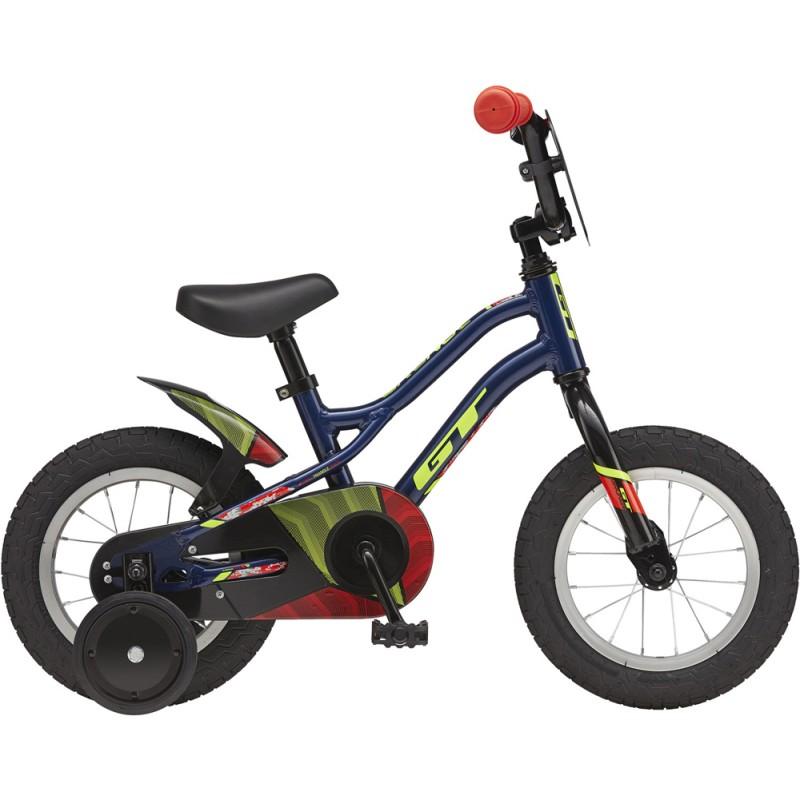 "GT Bicycles Grunge 12"" Kids Single Speed Bike - Gloss Navy"