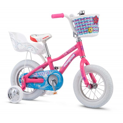 "Mongoose Lilgoose 12"" Kids Girls BMX Bike - Pink"