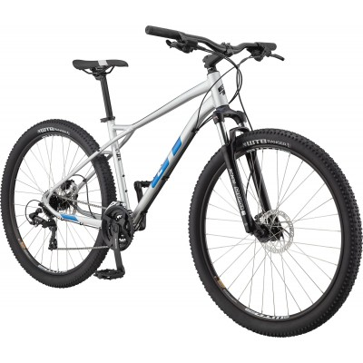 "GT Bicycles Aggressor Expert 27.5"" Hardtail MTB Bike - Gloss Silver - XS"