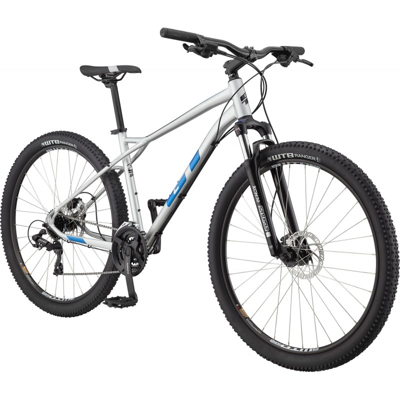 """GT Bicycles Aggressor Expert 27.5"""" Hardtail MTB Bike - Gloss Silver - XS"""