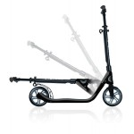 2017 Globber One NL 205 Folding Scooter Black/Charcoal Grey