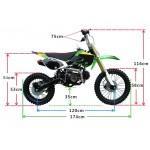 GMX 125cc Big Wheel Dirt Bike Black