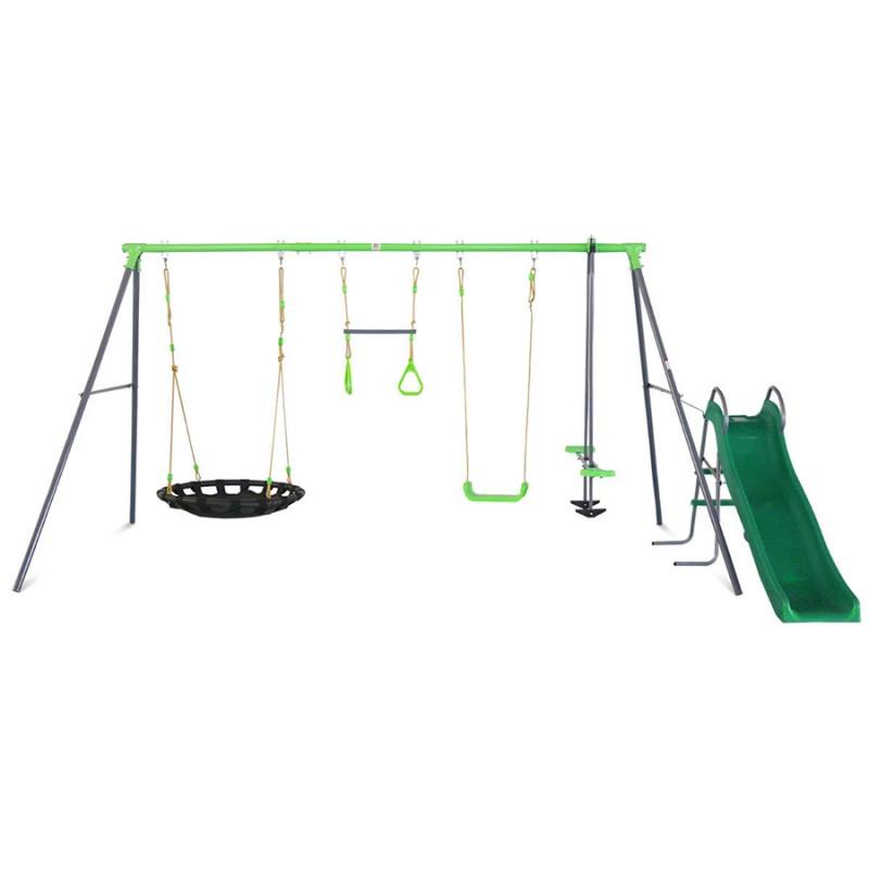 Lifespan Lynx Metal Swing Set with Slide