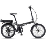 "XDS E-City 20"" Folding E-Bike Grey"