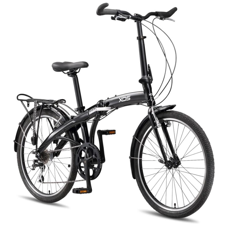 "XDS City 24"" Folding Bike Pearl Black"