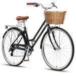 "XDS Loretta 700c x 19"" Ladies Alloy Retro Bike - Black"