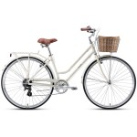 "XDS Loretta 700c x 19"" Ladies Alloy Retro Bike - Ivory"