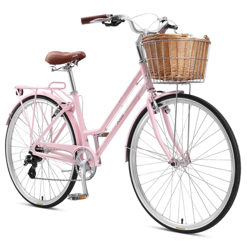 "XDS Loretta 700c x 17"" Ladies Alloy Retro Bike - Blush Pink"