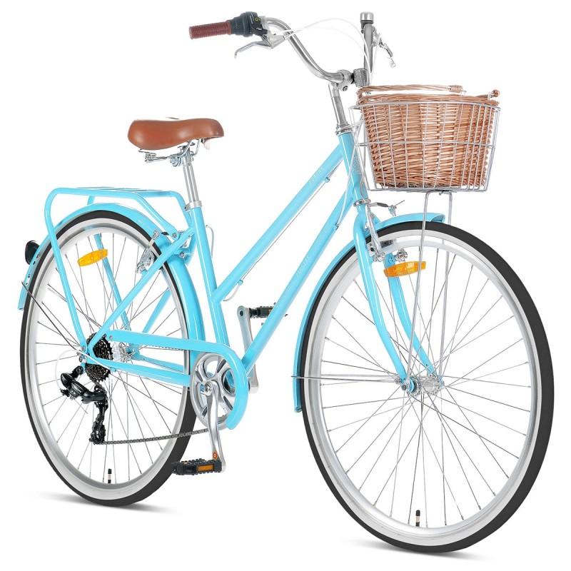 """Progear Pomona 700c x 17"""" Ladies Retro Bike - Sky Blue"""