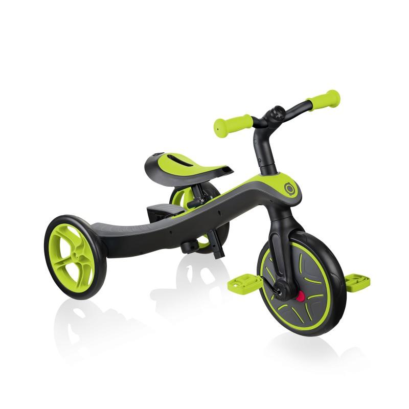 Globber Explorer Trike Balance Bike 2 in 1 - Lime Green