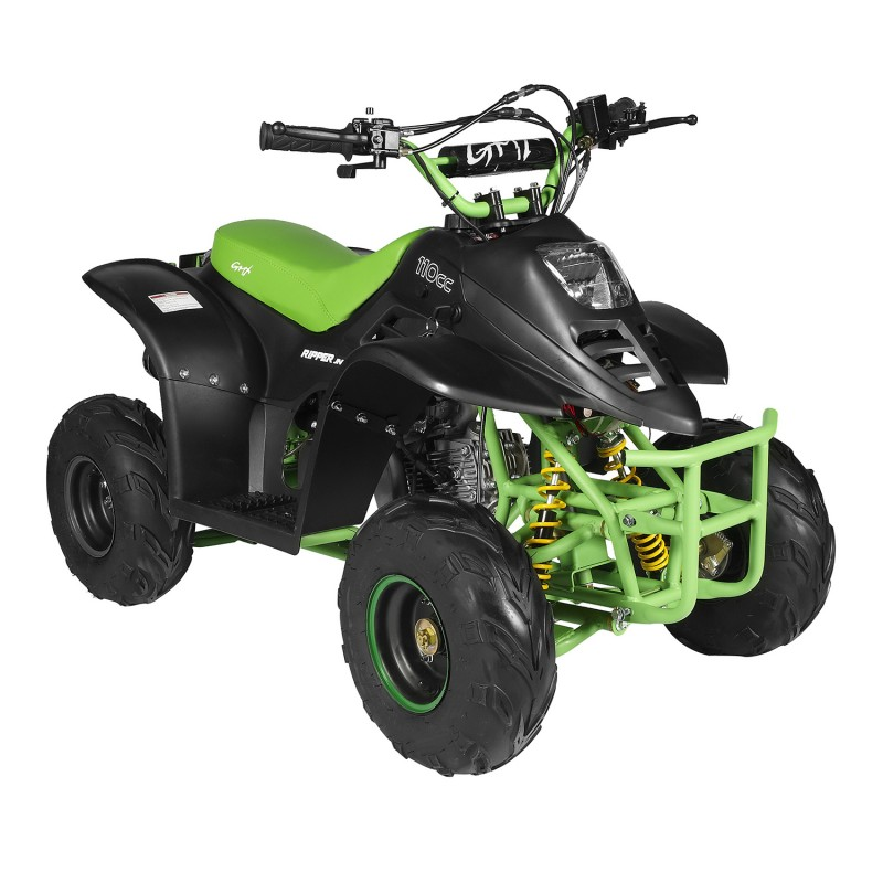GMX 110cc Ripper-X Junior Kids Quad Bike - Black / Green