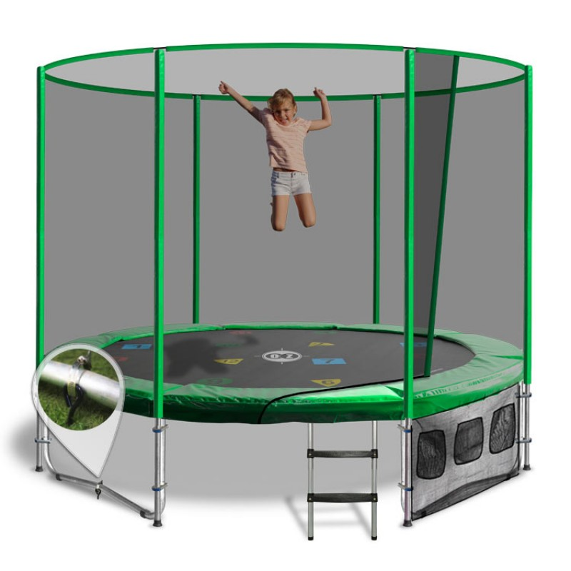 OZ Trampolines Summit Round 8 Ft. Above Ground Trampoline - Green