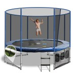 OZ Trampolines Summit Round 10 Ft. Above Ground Trampoline - Blue