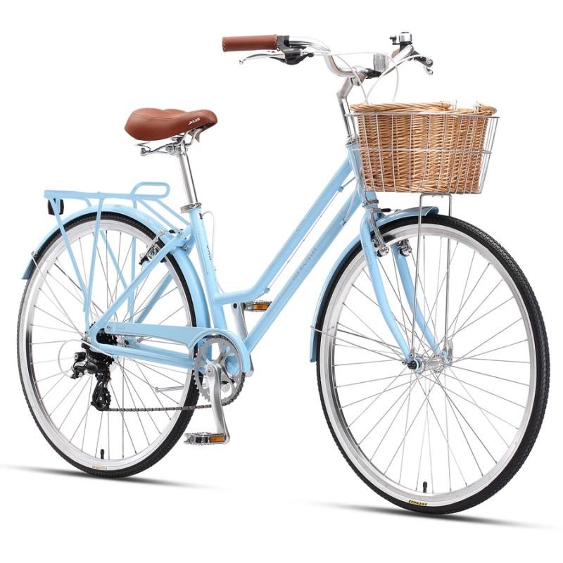 "XDS Loretta 700c x 19"" Ladies Alloy Retro Bike - Blue"