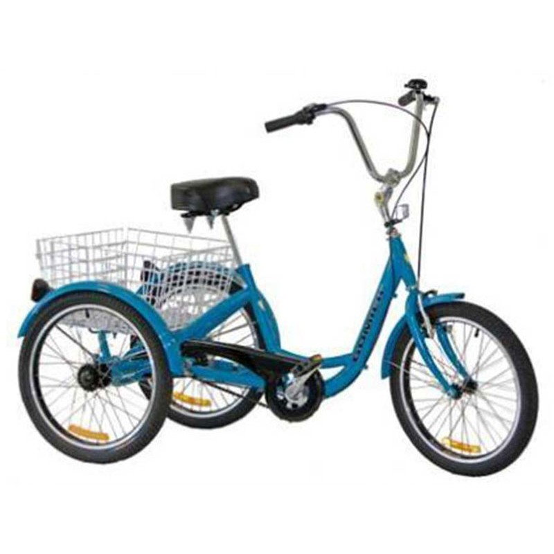 "Gomier 2500 Series Coaster 24"" Adult Tricycle - Blue"
