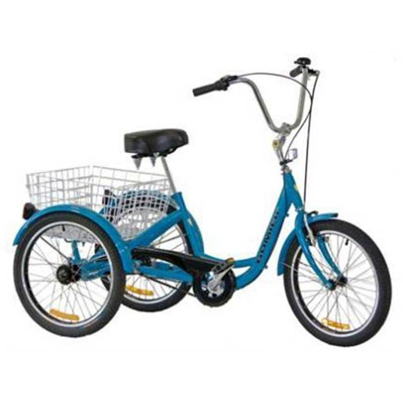 "Gomier 2500 Series Shimano 6 Speed 24"" Adult Tricycle - Blue"