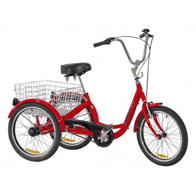 "Gomier 2500 Series Shimano Nexus 3 Speed 24"" Adult Tricycle - Red"