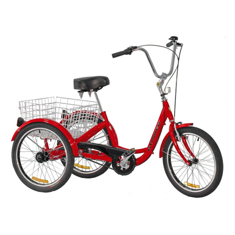 "Gomier 2500 Series Coaster 20"" Adult Trike - Red"