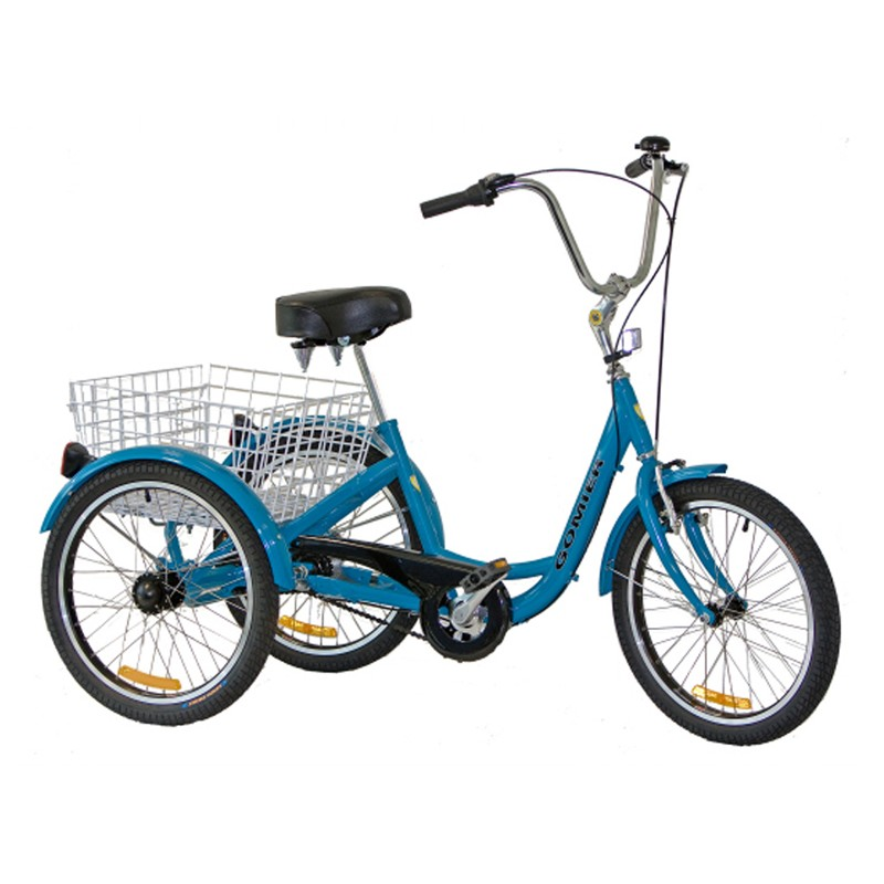 "Gomier 2500 Series 6 Speed Shimano 20"" Adult Trike - Blue"