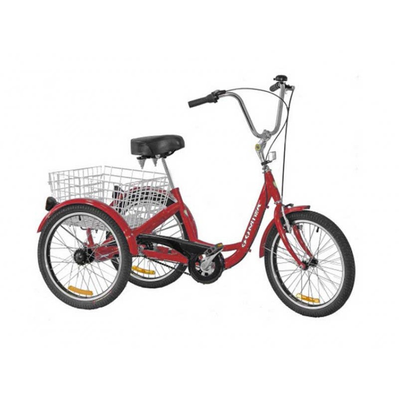 "Gomier 2500 Series 6 Speed Shimano 20"" Adult Trike - Red"