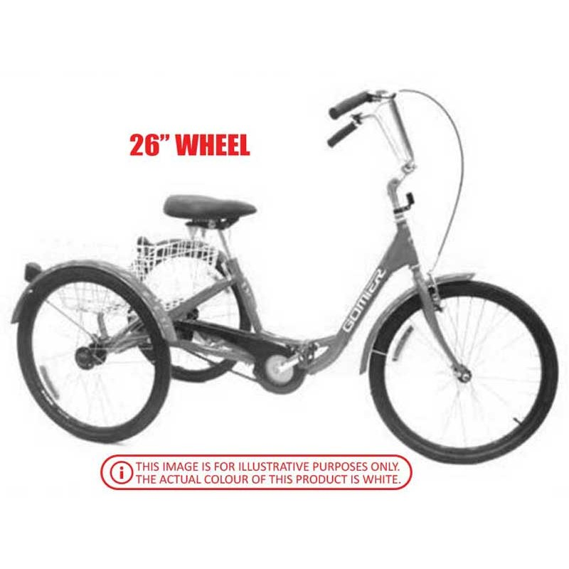 "Gomier 2500 Series 6 Speed Shimano 26"" Adult Tricycle - White"