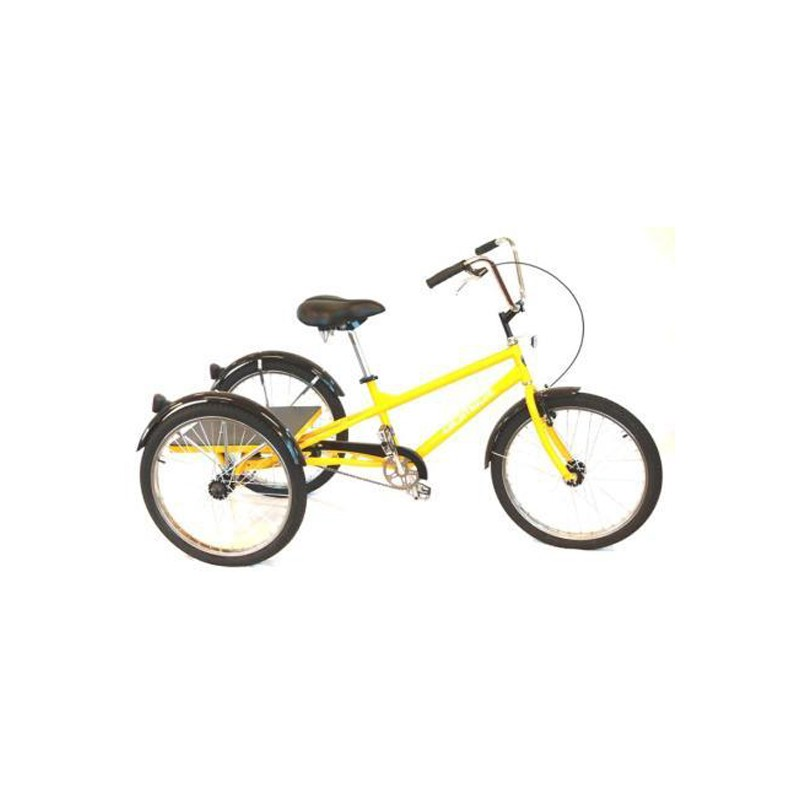 "Gomier 24"" Single Speed Industrial Adult Trike - Yellow"
